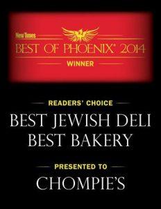 Best Jewish Deli and Best Bakery, Phoenix AZ - Chompie's