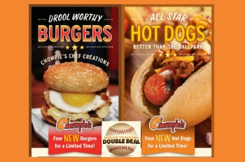 Chompie's 2018 MLB Spring Training Cactus League Burger & Dog Promo